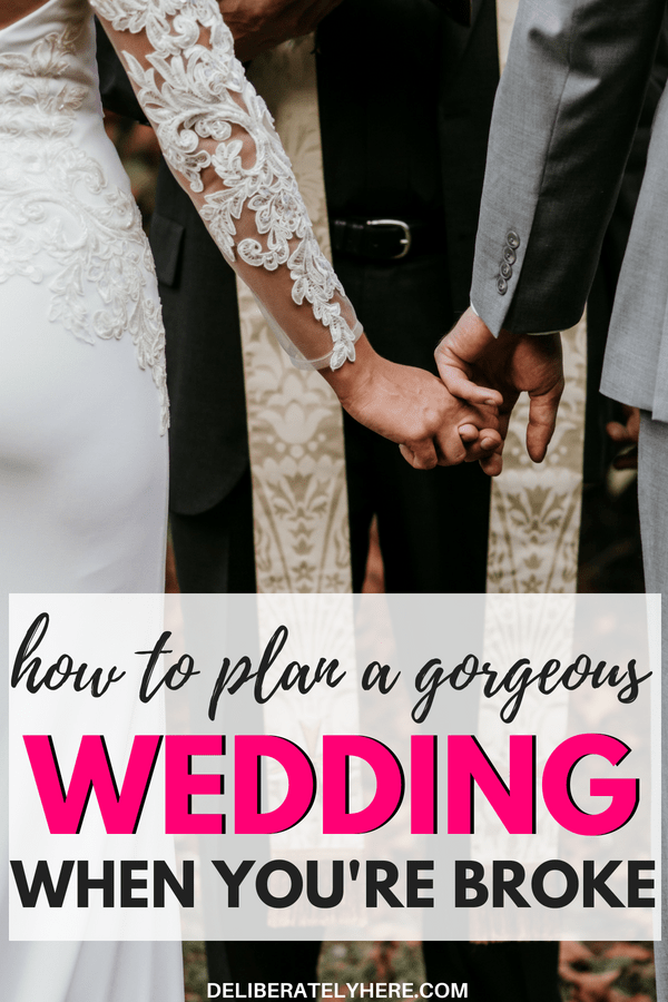 How to plan a beautiful wedding when you're broke. Plan a wedding on a budget. Budget wedding ideas.