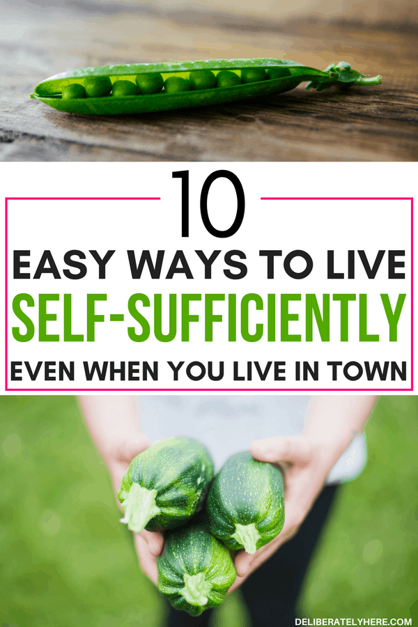 10 easy ways to become more self-sufficient even if you live in town - live a self-sufficient life, grow and raise your own food even if you live in town!