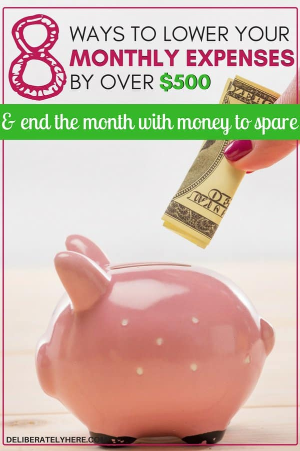 How to lower your monthly expenses and come out with money to spare every month. 8 smart ways to lower your monthly expenses and save money every month. Save money on your monthly expenses and bills with these clever tips. How to save money on monthly expenses. Have spending money at the end of every month.