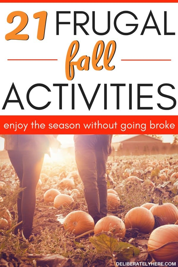 21 frugal fall activities for the whole family to enjoy. Save money fast with these frugal living tips to help you enjoy fall activities on a budget. Stay on budget this fall and save money for the holidays.