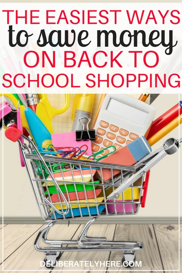 10 ways how to save money on back to school shopping. Save money fast with these back to school shopping on a budget tips and hacks. Don't go broke this year with all things back to school - instead use these saving money tips and ideas to help you save money fast on everything back to school shopping.