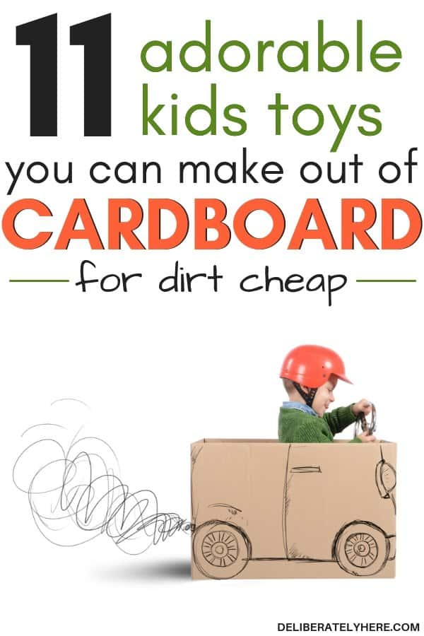 11 adorable kids toys you can make out of cardboard for cheap or free. DIY kids toys. Homemade kids toys DIY for toddlers and kids. Homemade cardboard crafts for kids. Easy and fun cardboard crafts for kids.