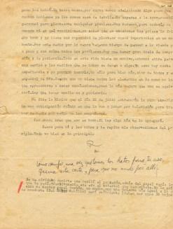 Dernière page de la lettre de Roque à Aída le 24 juin 1973 © Archives de la famille Dalton