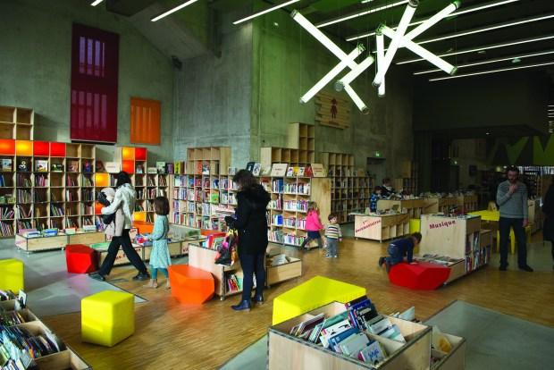 Salle de lecture de L'Alpha, médiathèque d'Angoulême © Philippe Le Roy