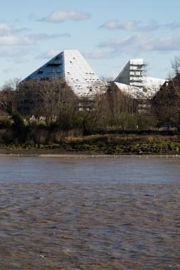 Ilot Queyries (Bordeaux) vue du chantierdepuis la rive gauche © Ivan Mathie
