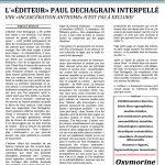 L'éditeur Paul Dechagrain interpellé
