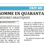 La somme en quarantaine