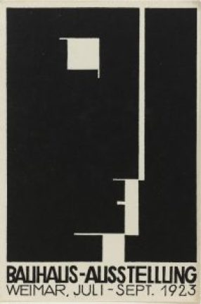 Herbert Bayer, Carte postale pour l'exposition Bauhaus, lithographie, 1923. Photo © Centre Pompidou, MNAM-CCI, Dist. RMN-Grand Palais / Droits réservés