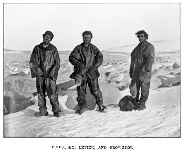 État des hommes récupérés après leur hivernage forcé sur l'îlot Inexpressible. Photo: auteur inconnu. Expédition Antarctique Terra Nova (1910-1913)
