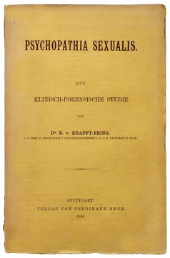 Page de couverture de l'édition originale en allemand de Psychopathia Sexualis du psychiatre autrichien Richard von Krafft-Ebing (1886)