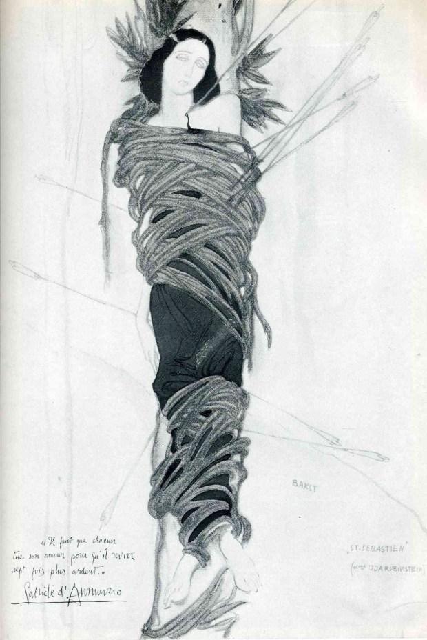 Ida Rubinstein par Léon Bakst
