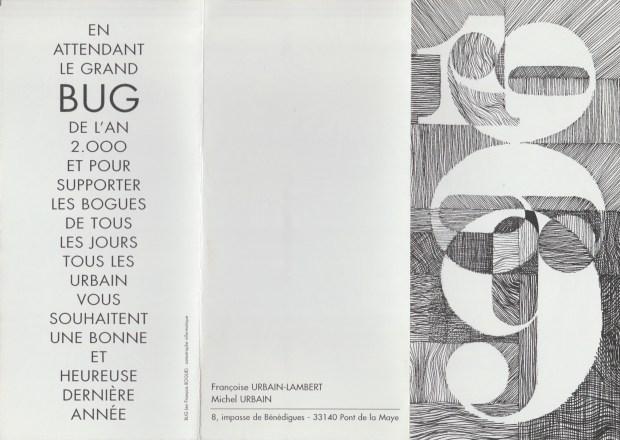 1999 - Les Zurbains vous souhaitent une excellente dernière année © Famille urbain