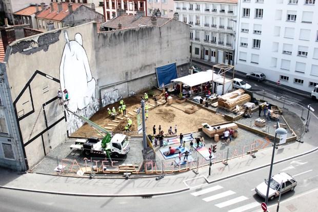 Saint-Étienne - Chantier ouvert au public: ateliers manuels, événements et débats ouverts à tous © Collectif Etc