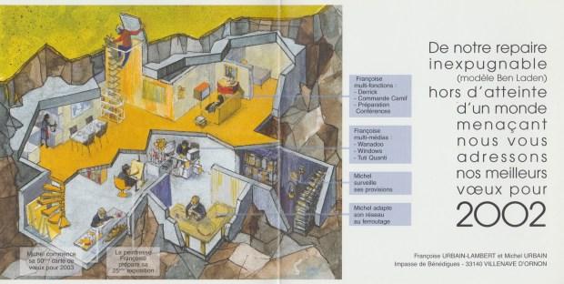 2002 - Les Zurbains vous souhaitent une excellente nouvelle année © Famille urbain
