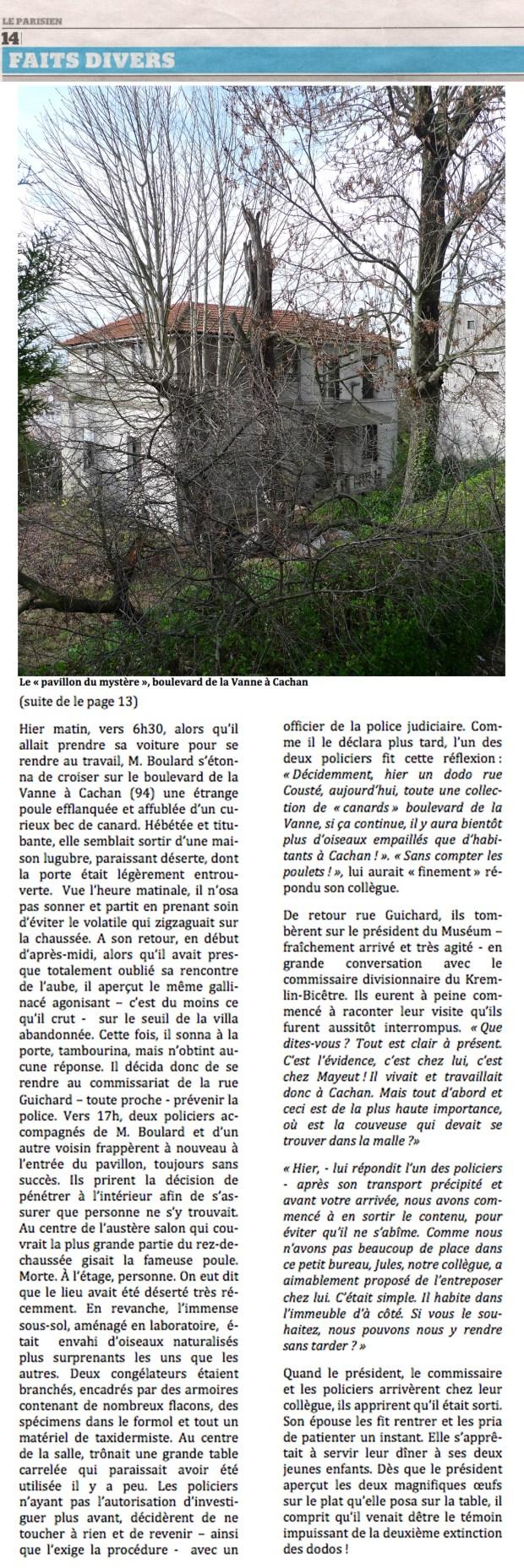 L'étrange cas Mayeut (suite de la page 13) ©Philippe Mignon