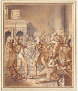 Alexandre Lenoir s'opposant aux destructeurs de Saint-Denis (1793). Paris, musée Carnavalet