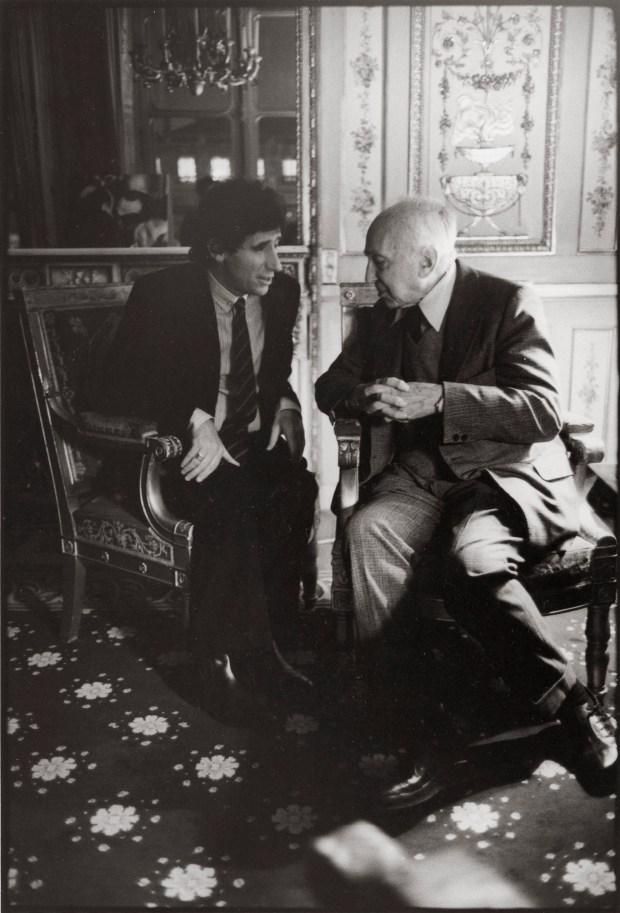 André Kertész et Jack Lang (1982) © Gilles Walusinski