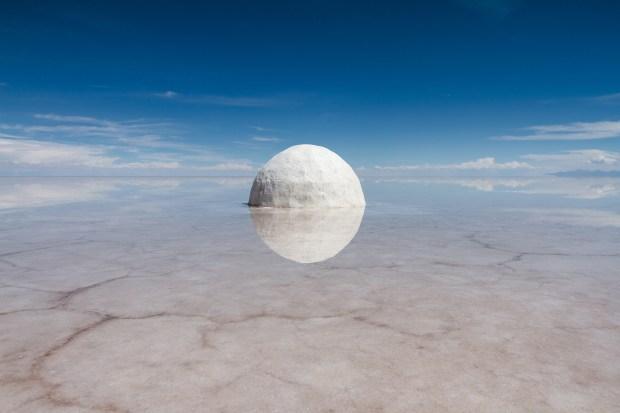 Guillaume Barth, Élina, 2015, sel, eau, 300cm de diamètre © Guillaume Barth