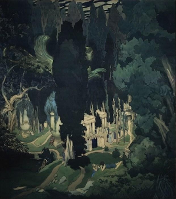 Leon Bakst, Elysium (1906) - Tretyakov Gallery, Moscow