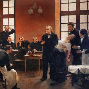 André Brouillet - Le Dr Charcot à la Salpêtrière (1887) - détail