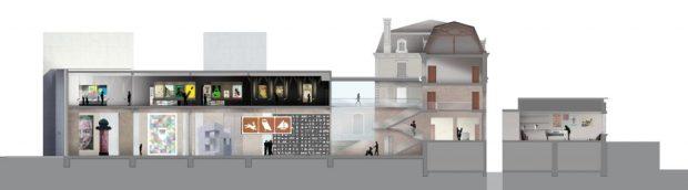 Le Signe à Chaumont (plan de coupe)