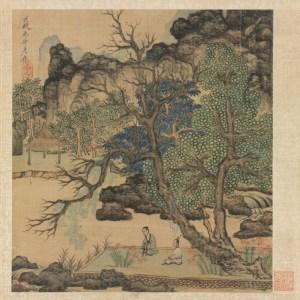 """Chen Hongshou (1598-1652): """"Scholars in a garden"""" - The Cleveland Museum of Art"""