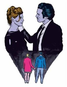 """Affiche de la pièce """"Démons"""" de Lars Norén, mise en scène par Marcial Di Fonzo Bo au Théâtre du Rond-Point ©Stéphane Trapier"""