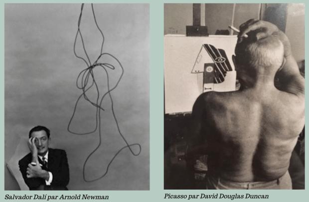 Salvador par Arnold Newman, Picasso par David Douglas Duncan
