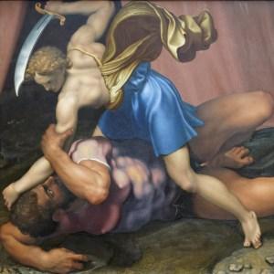 Daniele da Volterra - David et Goliath (verso) - ca.1555 - Musée du Louvre, Paris