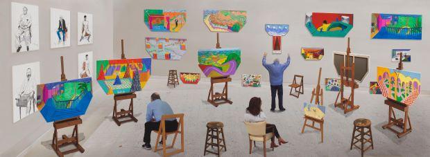 "David Hockney, ""Inside It Opens Up As Well"" 2018. ©David Hockney - assisted by Jonathan Wilkinson / Courtesy Galerie Lelong & Co. Photo: Richard Schmidt"