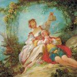 Jean-Honoré Fragonard: Les amants heureux. Huile sur toile, c.1760-1765