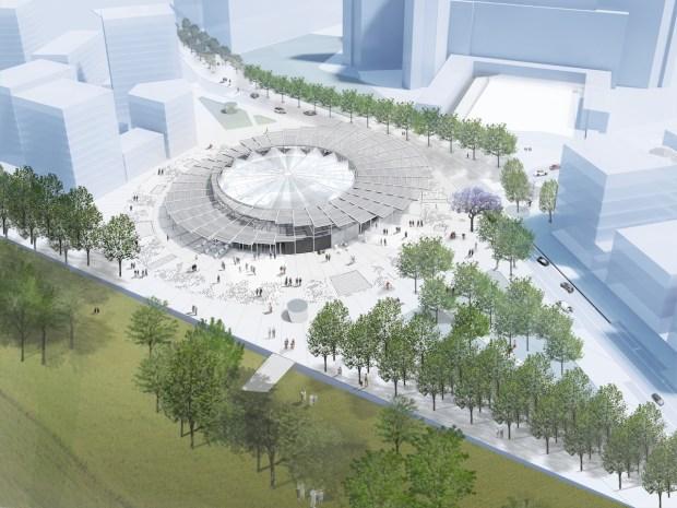Horizon 2030- Gare de Villejuif - Société du Grand Paris © Dominique Perrault Architecture