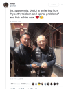 Jet Li vieillit, Twitterpleure