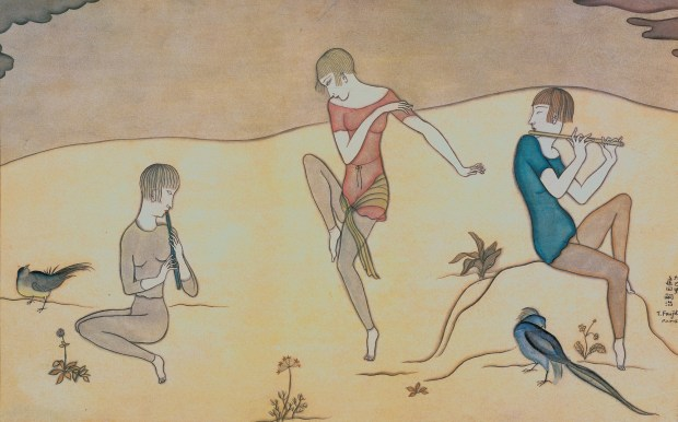 """La Danse, expo """"Foujita, peindre dans les Années folles"""", jusqu'au 15 juillet 1018 au Musée Maillol, 61 rue de Grenelle, 75007 Paris"""