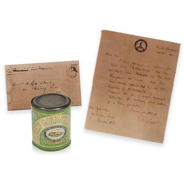 La lettre de Scott adressée à la famille Lyle en 1911