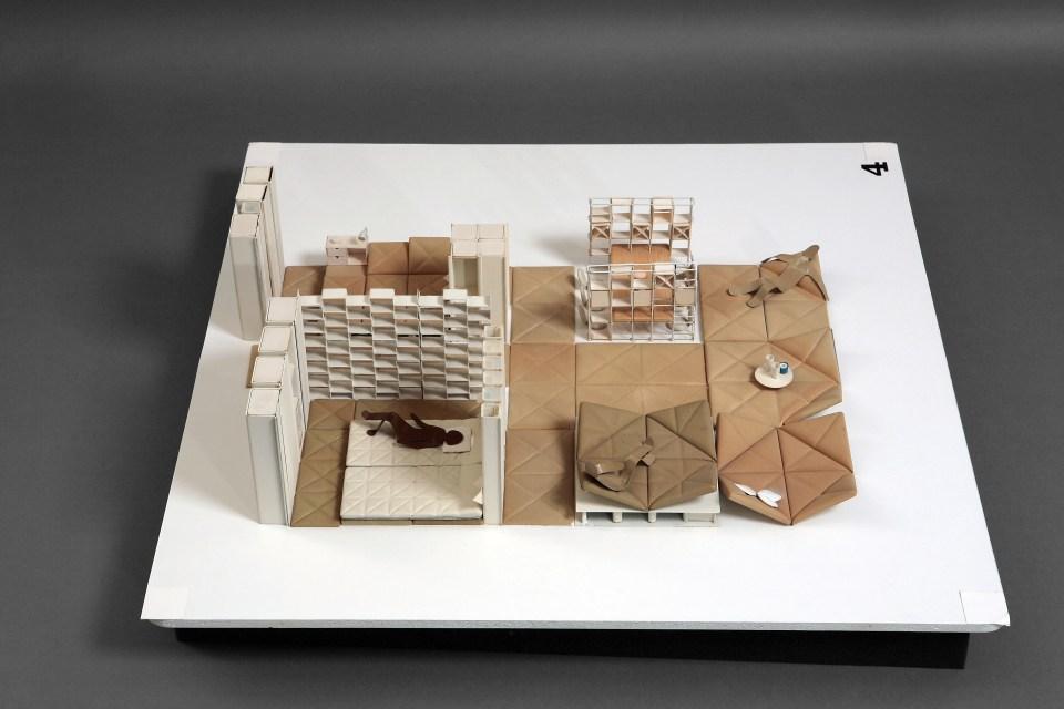 Aménagement intérieur n°4 (maquette), 1970 © Pierre Paulin © Coll. Centre Pompidou, musée national d'art moderne / Photo JC. Planchet