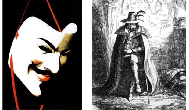 V for Vendetta © DC Comics – 1988-1989 / Guy Fawkes par George Cruikshank (1840)