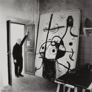 """Miró devant """"Poème"""" (inachevé)"""