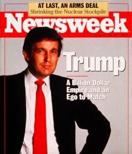 Donald Trump en Une du magazine Newsweek, le 28 septembre 1987