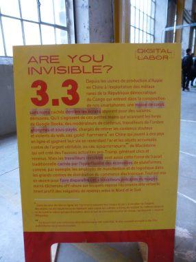 """Digital Labor, """"Are you invisible?"""" / Biennale du Design à Saint-Etienne"""
