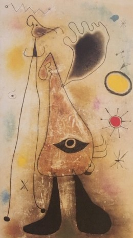 Joan Miró - Personnages devant le soleil (1942)