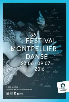 Affiche du festival Montpellier Danse. Un article de Marie-Christine Vernay dans délibéré