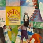 """Robert Delaunay, """"L'équipe de Cardiff"""". Huile sur toile, 1912-1913. Paris, musée d'Art moderne."""