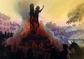 """Samuel Bastide, Bûcher. Supplice d'un des premiers chefs camisards, Pierre dit """"Esprit"""" Séguier, qui, brûlé vif sur la place de Pont-de-Montvert en Aout 1702, n'aurait cessé de prophétiser et de prier. SUR LES TRACES DES CAMISARDS, carnet de bord de Thomas Gayrard dans délibéré"""
