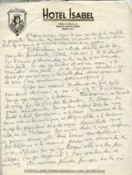 Roque Dalton, Correspondance clandestine. Seconde page de la première lettre depuis Mexico, 29 août 1974 © Archives de la famille Dalton