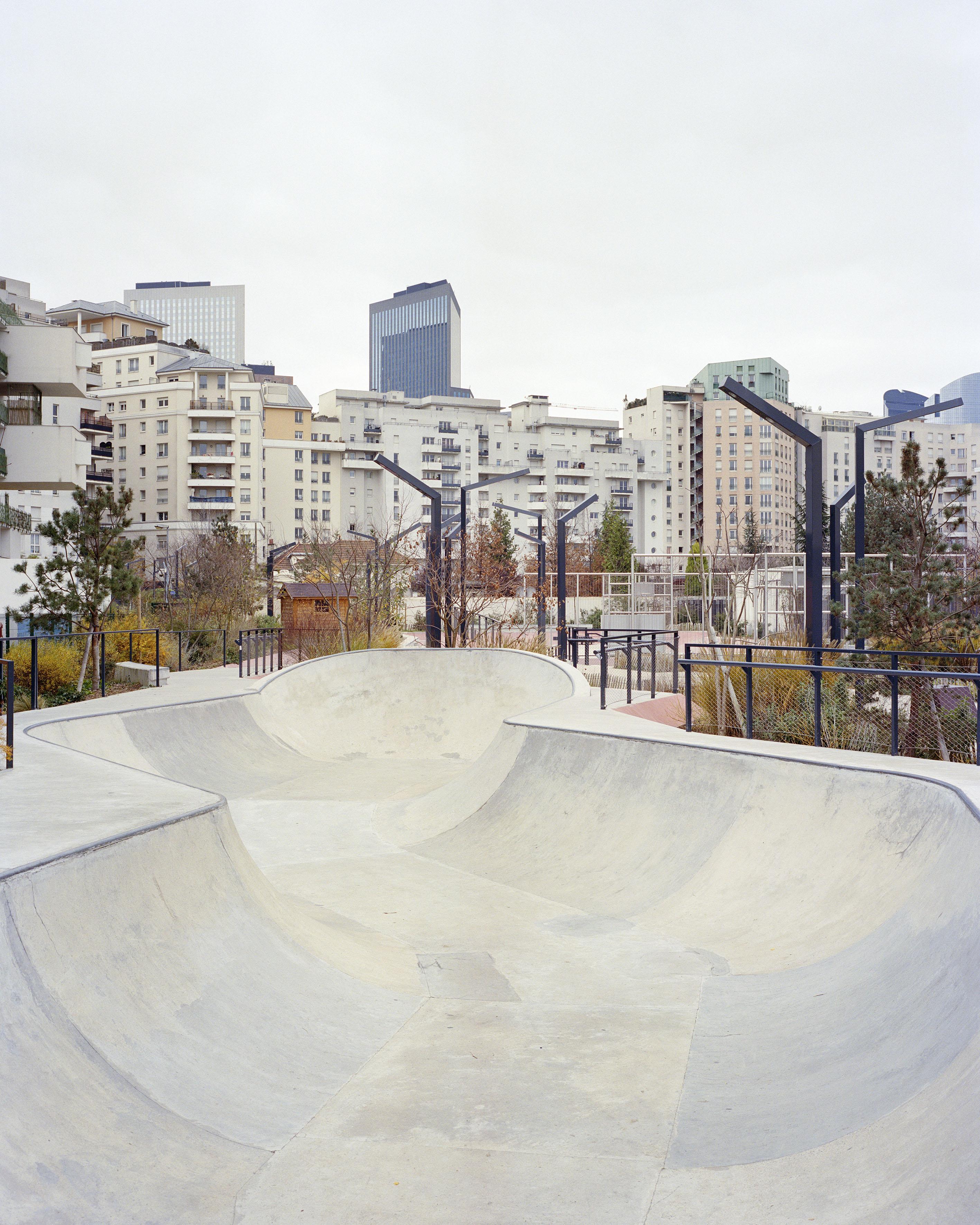 Skatepark, Courbevoie. Commande photographique de la villa Noailles - Photo Stéphane Ruchaud, 2016