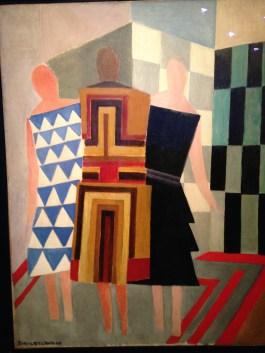 Sonia Delaunay, Trois femmes, formes, couleurs, 1925. Musée Thyssen Bornemisa, Madrid