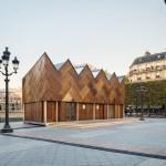 Le Pavillon Circulaire, Hôtel de Ville de Paris, fait de matériaux essentiellement récupérés. Architectes: collectif Encore heureux ® Cyrus Cornut