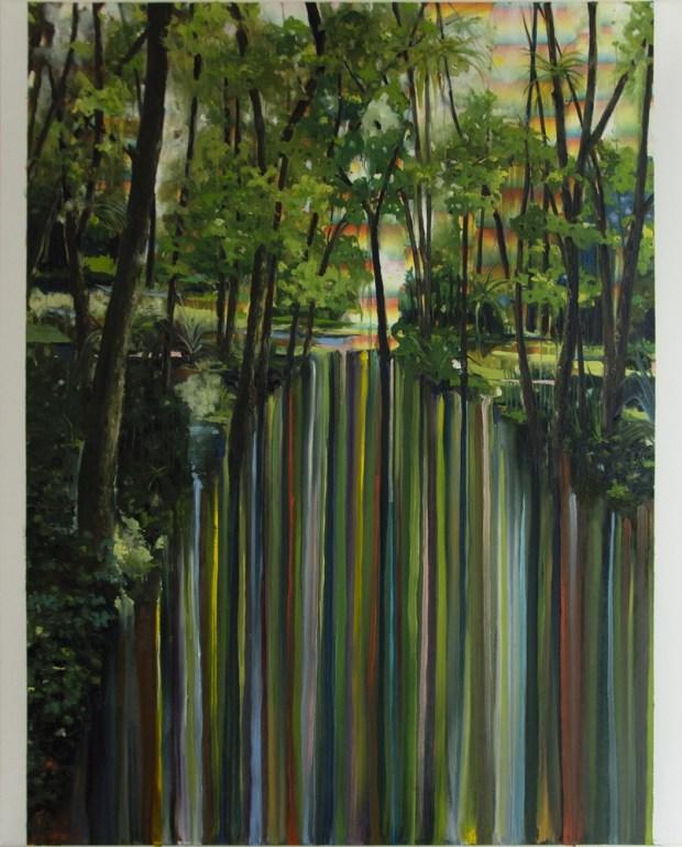"""""""Ah ! Mais oui, Cocotier"""", huile sur toile, 100x80 cm, 2014. Courtesy Galerie Zürcher, Paris - New York"""