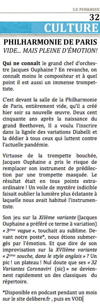 Philarmonie de Paris: concert devant une salle vide... mais pleine d'émotion
